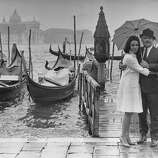 British actress Claire Bloom and her husband American actor Rod Steiger  in Venice, Italy for the film festival in September 1963. (Photo by Daily Express/Archive Photos/Getty Images)
