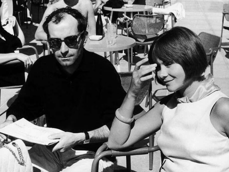The French Film-Maker Jean-Luc Godard And The French Actress Macha Meryl Present The Film Une Femme Mariee At The Venice Film Festival In September 1964.  (Photo by Keystone-France/Gamma-Keystone via Getty Images) Photo: Keystone-France, Gamma-Keystone Via Getty Images