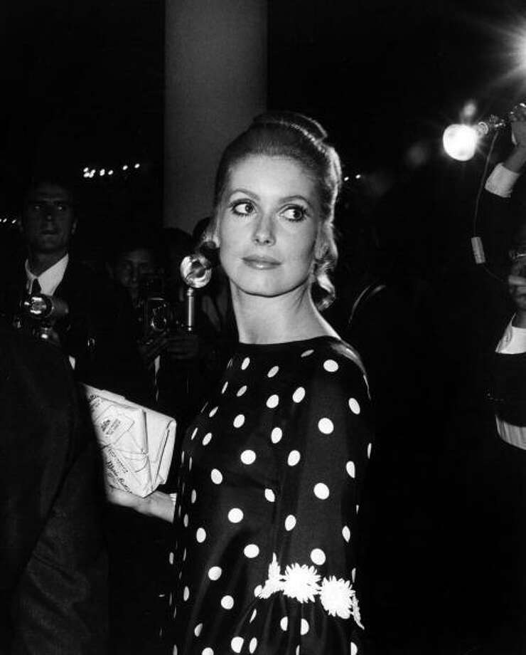 The French actress Catherine Deneuve at the Venice Film Festival for the premiere of the film 'Belle De Jour', Venice, September 1967 (Photo by Giorgio Lotti/Mondadori Portfolio via Getty Images) Photo: Mondadori, Mondadori Via Getty Images