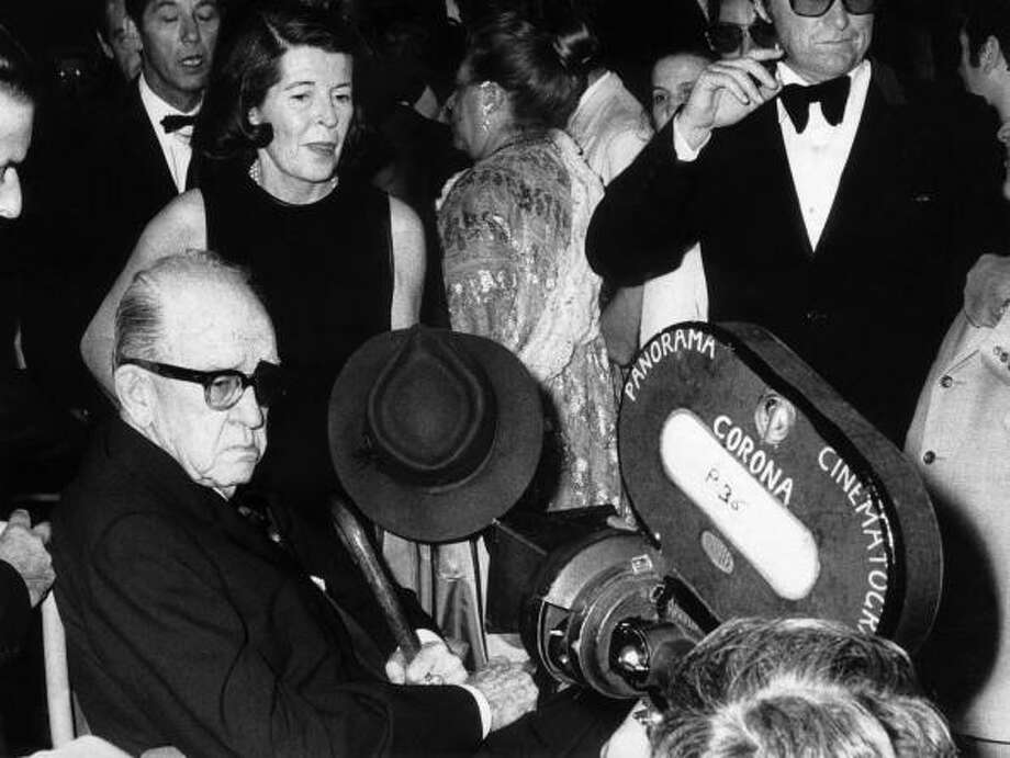 The American director John FORD with his daughter at the 1971 Venice film festival. Photo: Keystone-France, Gamma-Keystone Via Getty Images