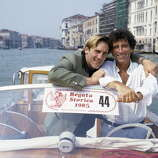 Jack Lang And Gerard Depardieu At The 42nd Venice Festival.  There were there for the Maurice Pialat film, POLICE.