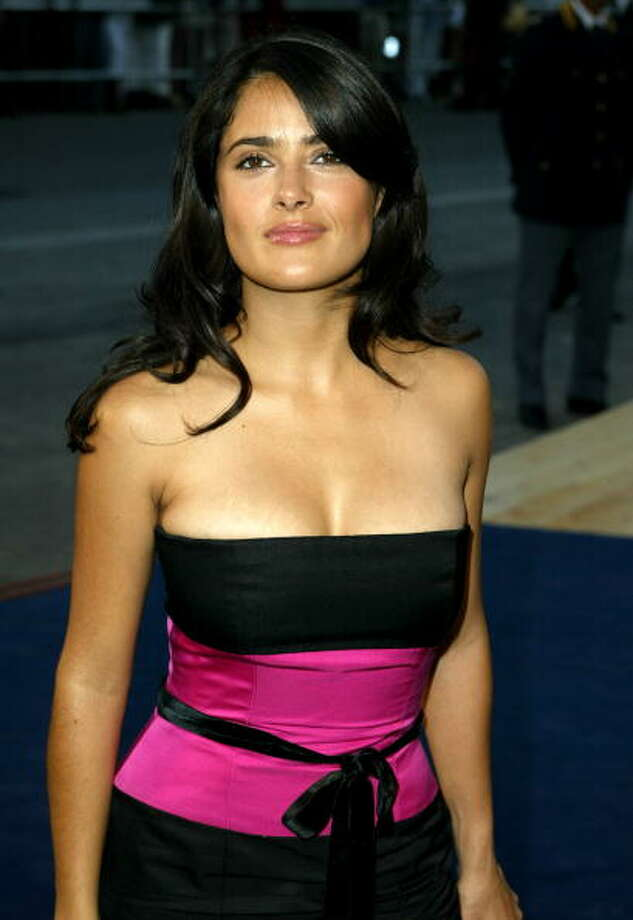 Salma Hayek at the Sala Grande in Venice Lido, Italy, 2003. Photo: Jeff Vespa, WireImage / WireImage