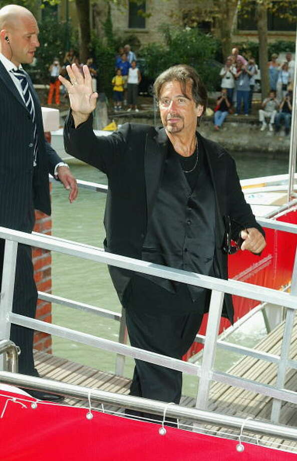 "Al Pacino leaves the ""The Merchant Of Venice"" Photocall by boat at the 61st Venice Film Festival on September 4, 2004 in Venice, Italy. (Photo by Pascal Le Segretain/Getty Images) Photo: Pascal Le Segretain, Getty Images / 2004 Getty Images"