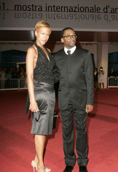 """Tonya Lewis Lee and Spike Lee during 2004 Venice Film Festival - """"She Hate Me"""" - Premiere at Palazzo del Cinema in Venice Lido, Italy. (Photo by J. Vespa/WireImage) Photo: J. Vespa, WireImage / WireImage"""