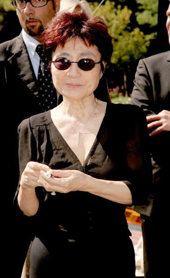 Yoko Ono during 2004 Venice Film Festival. Photo: Venturelli, WireImage