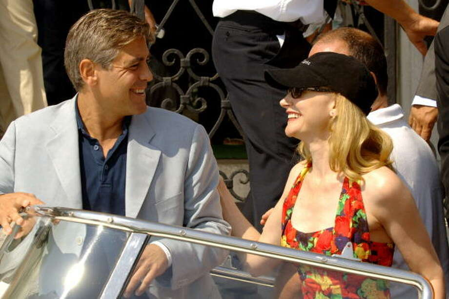 George Clooney and Patricia Clarkson during 2005 Venice Film Festival - George Clooney.  You could make a gallery of Clooney Venice pictures -- they can't keep that guy away, and he always seems to be having a great time. Photo: George Pimentel, WireImage
