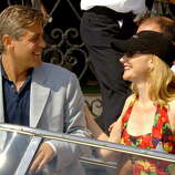 George Clooney and Patricia Clarkson during 2005 Venice Film Festival - George Clooney.  You could make a gallery of Clooney Venice pictures -- they can't keep that guy away, and he always seems to be having a great time.