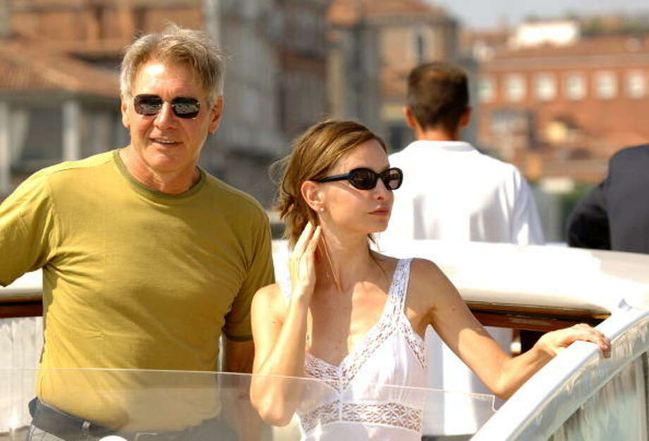 Harrison Ford and Calista Flockhart during the 2005 Venice Film Festival. Photo: George Pimentel, WireImage
