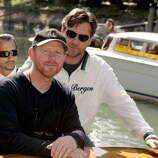 "Ron Howard and Russell Crowe during the 2005 Venice Film Festival.  There were there for  ""Cinderella Man"" and arriving at the Excelsior Hotel on the Lido."