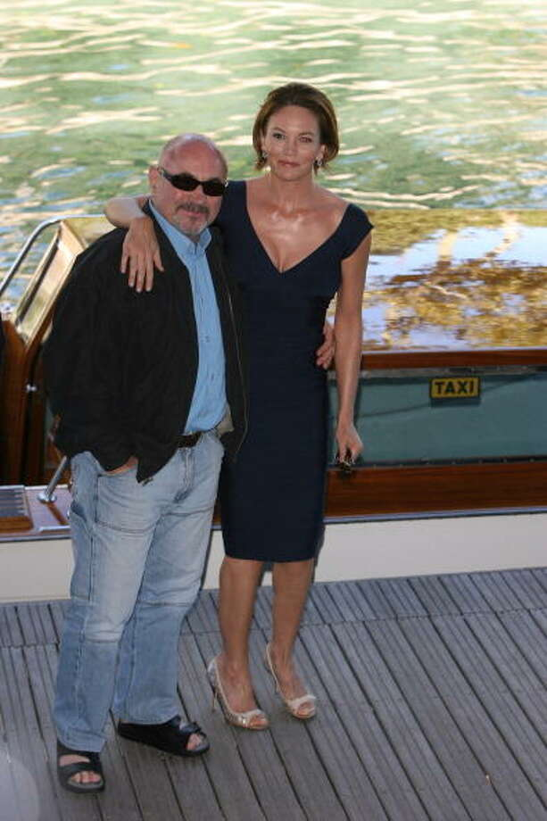 "Bob Hoskins and Diane Lane during The 63rd International Venice Film Festival - ""Hollywoodland"" Boat Arrivals at Palazzo Del Cinema in Venice Lido, Italy. Photo: Venturelli, WireImage"