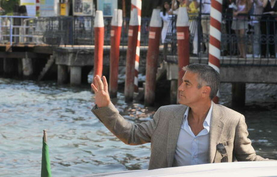Here's that man again:  George Clooney during the 'Burn After Reading' Photocall, part of the 65th Venice Film Festival at Palazzo del Casino on August 27, 2008 in Venice, Italy. Photo: Pascal Le Segretain, Getty Images / 2008 Getty Images