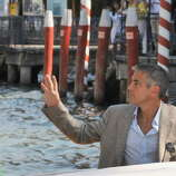 Here's that man again:  George Clooney during the 'Burn After Reading' Photocall, part of the 65th Venice Film Festival at Palazzo del Casino on August 27, 2008 in Venice, Italy.