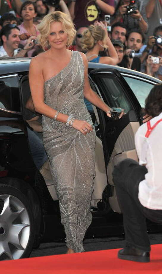 Actress Charlize Theron attends The Burning Plain premiere held at the Sala Grande during the 65th Venice Film Festival on August 29, 2008 in Venice, Italy. Photo: Pascal Le Segretain, Getty Images