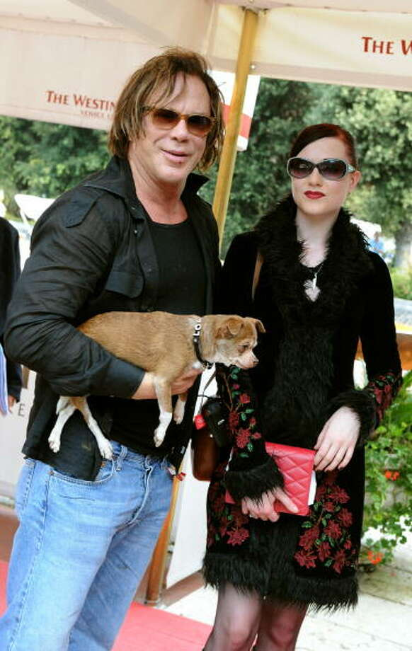 "Mickey Rourke and Evan Rachel Wood pose as they arrive at the 65th Venice International Film Festival at Venice Lido, on September 3, 2008. At the time, nobody thought ""The Wrestler""was going to be anything. Photo: ALBERTO PIZZOLI, AFP/Getty Images"