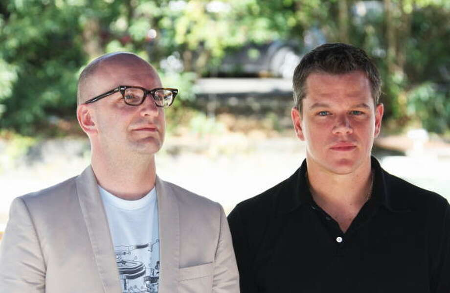 Steven Soderbergh and Matt Damon arrive at the Excelsior Hotel  on September 7, 2009 in Venice, Italy. Photo: Vittorio Zunino Celotto, Getty Images / 2009 Getty Images