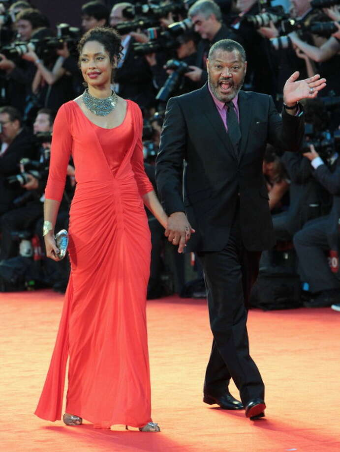 Laurence Fishburne and Gina Torres attend the 'Contagion' premiere during the 68th Venice Film Festival at Palazzo del Cinema on September 3, 2011 in Venice, Italy. Photo: Danny Martindale, FilmMagic / 2011 Danny Martindale