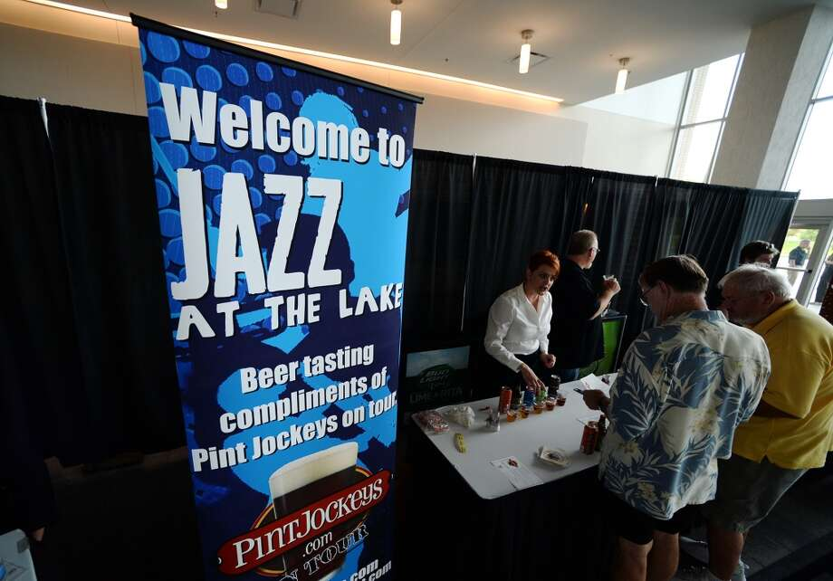 The Jazz at the Lake concert series kicked off at the Event Centre Thursday night with Dean James and his band. There was also free food, beer tastings, and a cash bar for attendees of the free event. Photo taken Tuesday 7/29/14 Jake Daniels/@JakeD_in_SETX