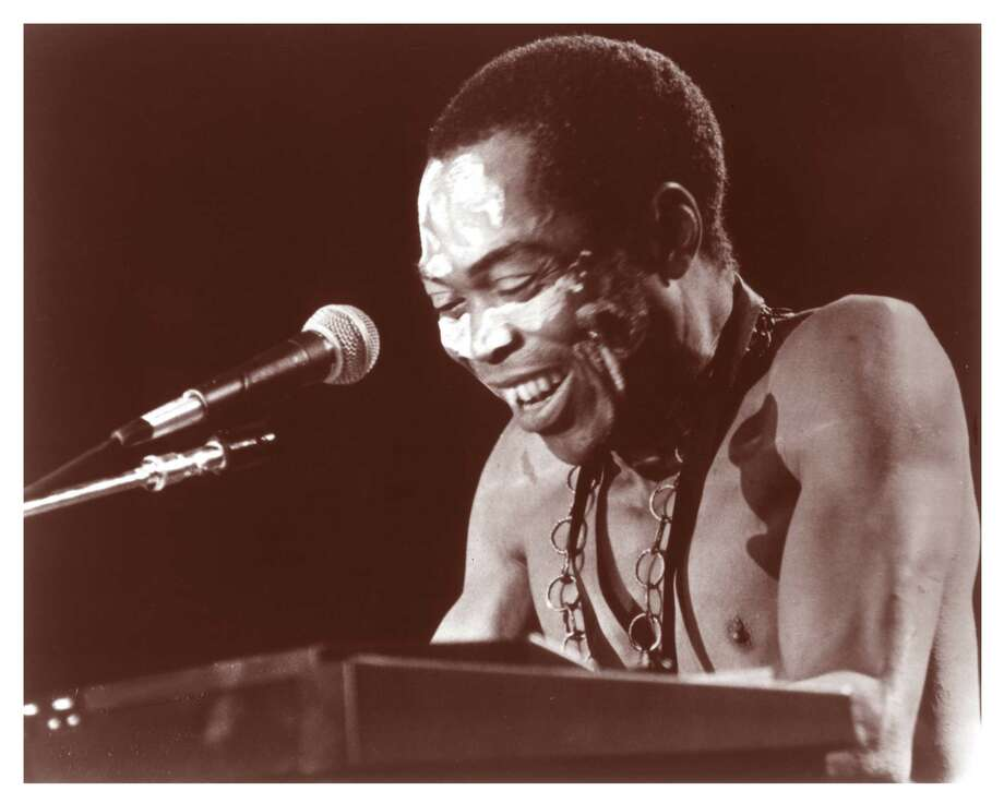 "Nigerian musician Fela Anikulapo Kuti, who died in 1997, is the subject of traveling Broadway show ""Fela!"" and the documentary ""Finding Fela."" / handout"