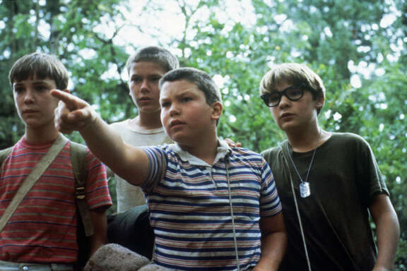 "Wil Wheaton, from left, River Phoenix, Jerry O'Connell and Corey Feldman star in ""Stand By Me,"" which screens midnight Friday and Saturday at River Oaks Theatre."