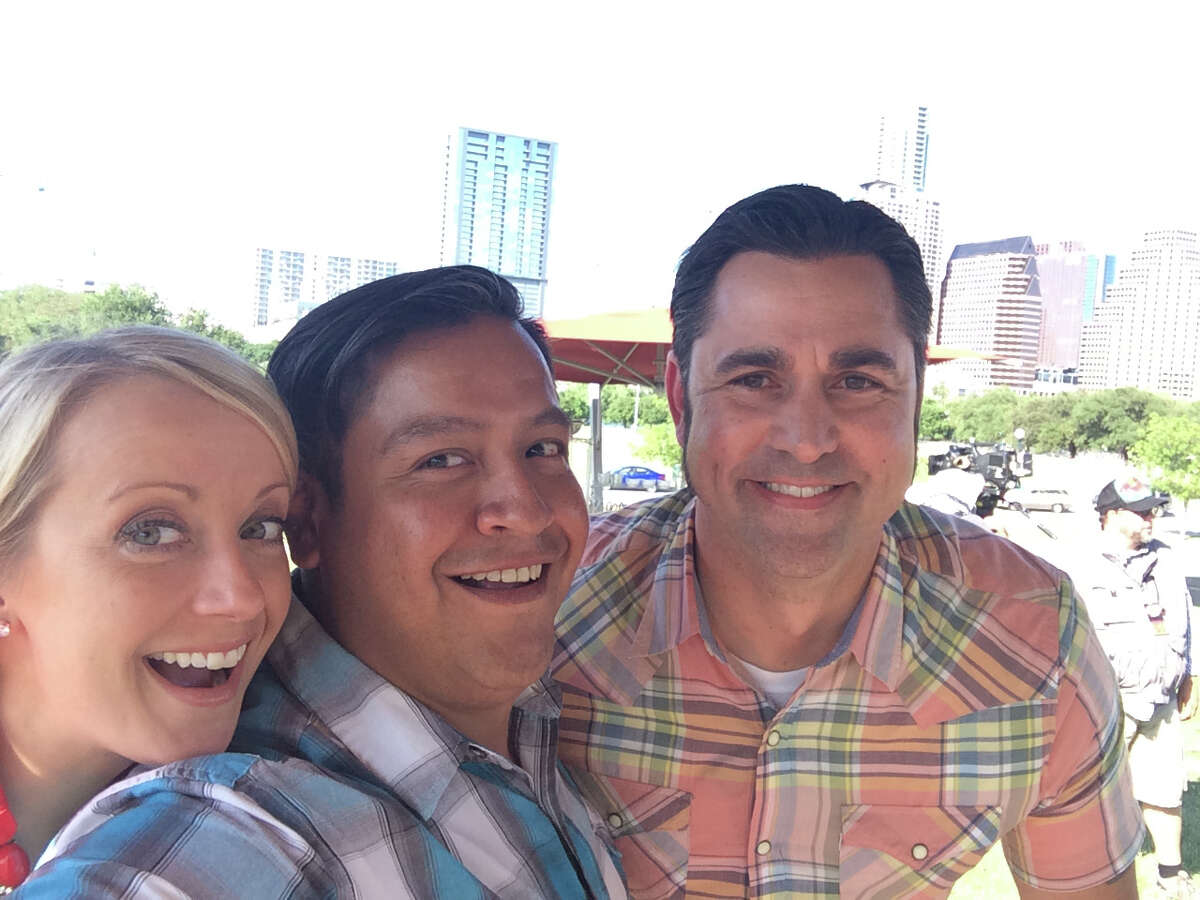 Adrian Davila (center), of Davila's BBQ in Seguin, is a guest judge on the Austin episode of