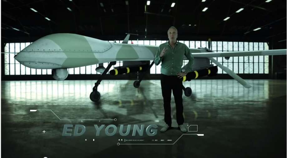 "Ed Young, a North Texas megachurch pastor, is using drones to spread his message of the omniscient power of God through sermons and in a 45-second video ad. The video features Young, standing in front of a predator drone armed with missiles, comparing drones' ability to ""know it all"" and ""see it all"" to God while dubstep music plays in the background."