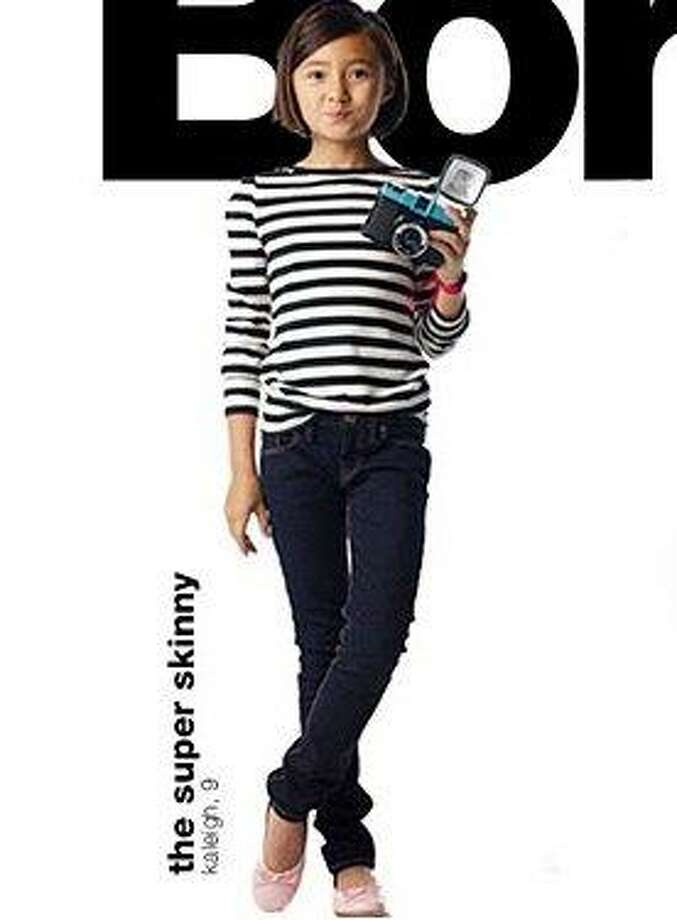"""Click through this slideshow to see the most talked-about youth fashion controversies.In 2010 everyone from Gymboree to Gap started selling children's skinny jeans. Old Navy embroidered the words """"Super Skinny"""" along the back of the inside waist line of its kids' jeans. Photo: Gap"""