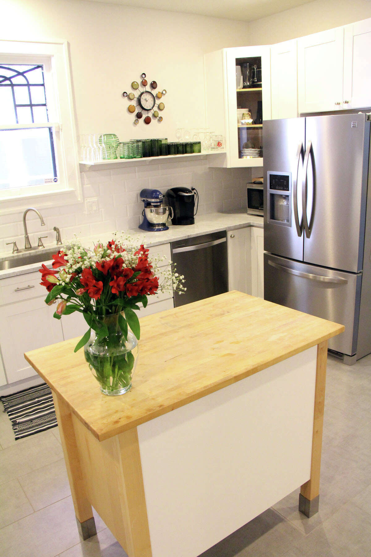 A modern, open kitchen drew Marli and Kolby Klaus to the updated 1922 house in the Lavaca Historic District.