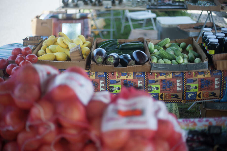 Some of the various produce available at the Kountze Farmer's Market on Saturday.  Photo taken Saturday, July 26, 2014.  Photo provided by Miguel Perez Photo: Miguel Perez