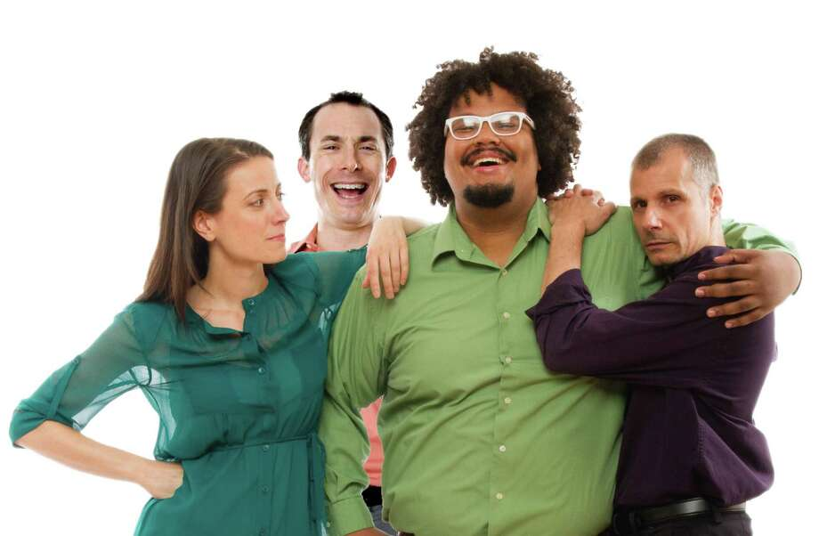 Canedy Knowles, Stefan Schick, Malachi Nimmons and Joe DeGise of New York-City-based Chicago City Limits will bring their long-running comedy improv show ot the Palace Theatre in Stamford, Conn., on Sept. 5, 2014. It's the first time the group will perform at the venue. Photo: Contributed Photo/Ale De Vries, Contributed Photo / Stamford Advocate contributed photo
