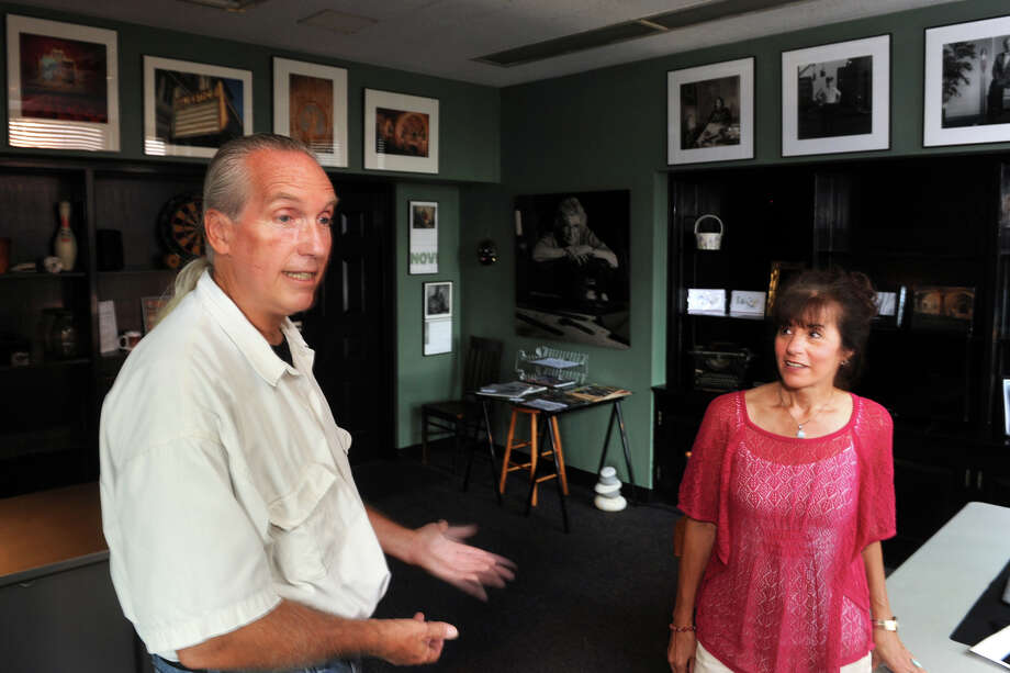 Photographers Jay Misencik and Geralene Valentine have moved into a new space in McLevy Hall, in downtown Bridgeport, Conn. Aug. 27, 2014. Photo: Ned Gerard / Connecticut Post