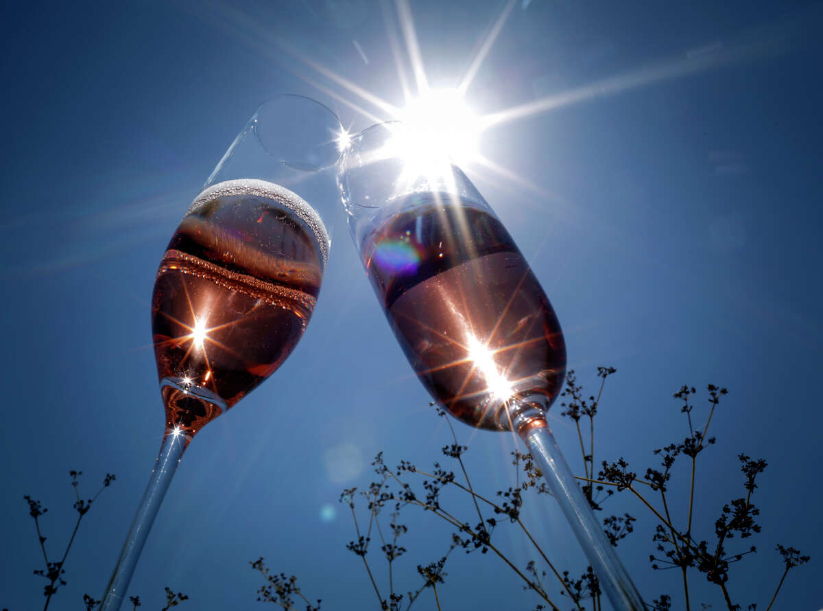 Summer sparkling wine is seen on Wednesday, Aug. 27, 2014 in San Francisco, Calif.