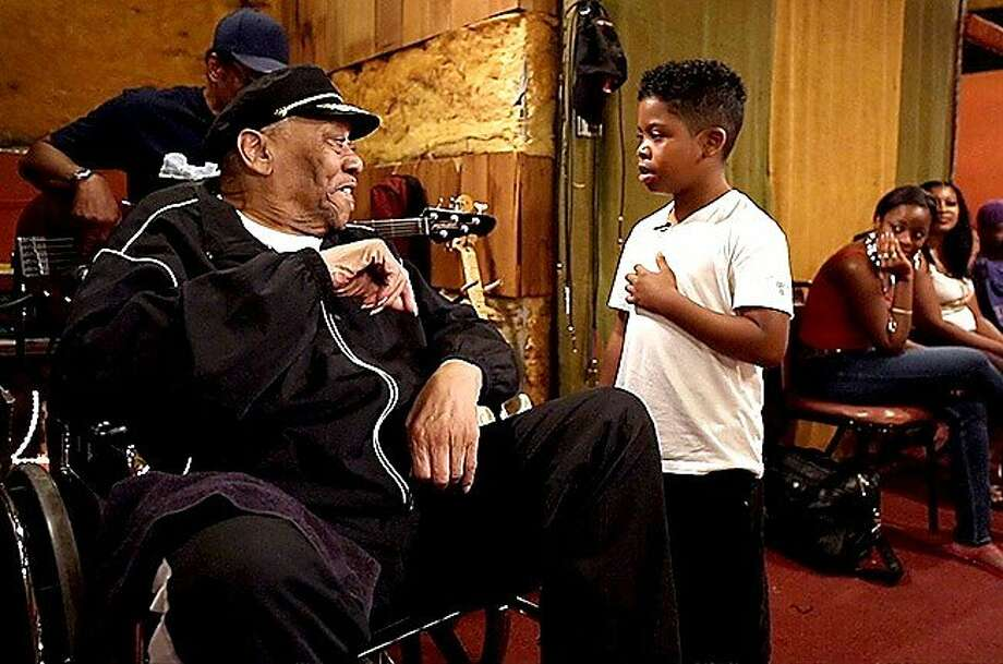 """Bobby """"Blue"""" Bland (left)  and Lil P-Nut  in """"Take Me to the River,"""" a documentary  on Memphis blues musicians and the evolution of the music scene into R&B, country, soul, funk and hip-hop. Photo: EGBA Entertainment"""