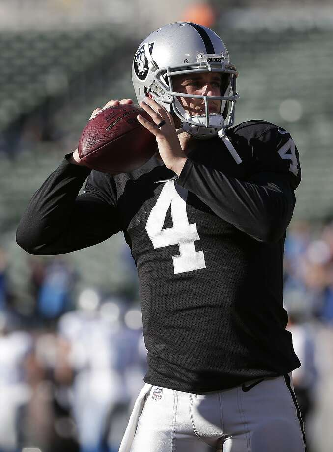 Raiders rookie Derek Carr will get the start at quarterback on Thursday. Photo: Marcio Jose Sanchez, Associated Press