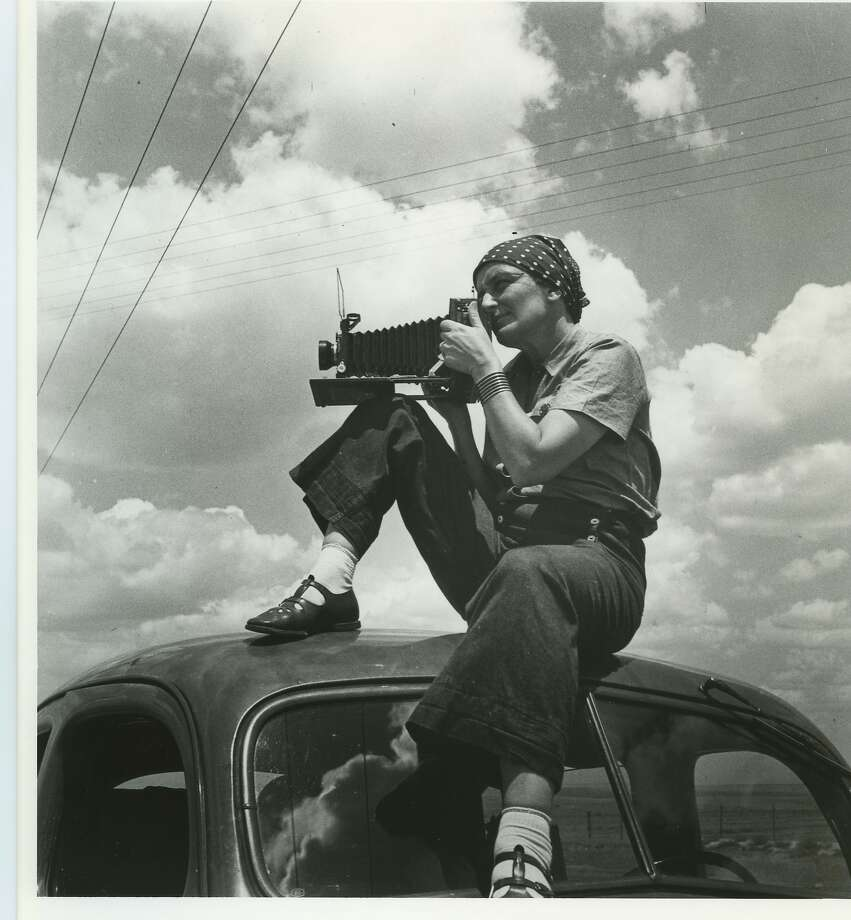 Dorothea Lange finds just the right vantage point from which she can grab a particular hunk of lightning. Photo: Courtesy Of Paul S. Taylor,  1936, PBS