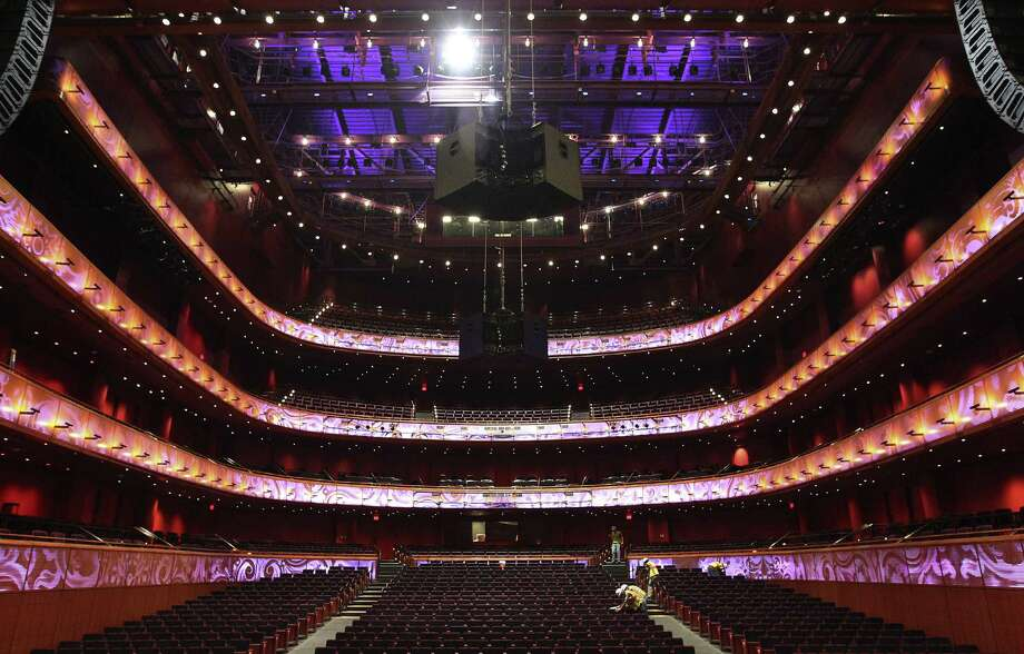 The H-E-B Performance Hall offers the feel of a European opera house. With the push of a button, the floor goes from sloping to flat. Photo: Kin Man Hui / San Antonio Express-News / ©2014 San Antonio Express-News