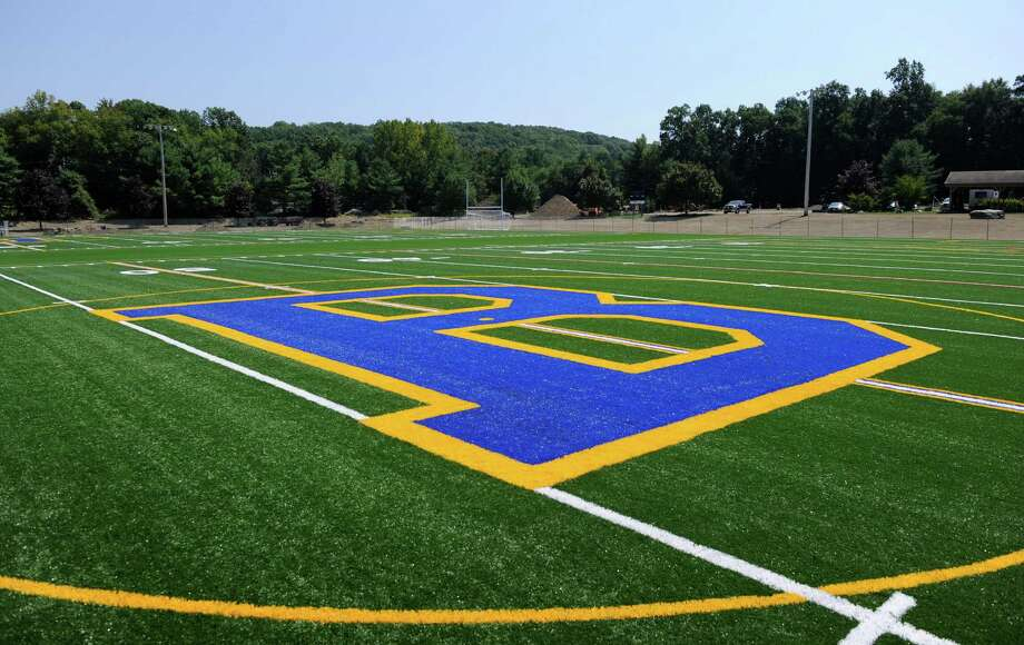 A new artificial turf field is part of the $5 million dollar renovation of Cadigan Park in Brookfield, Conn., Wed. Aug. 27, 2014. Photo: Carol Kaliff / The News-Times