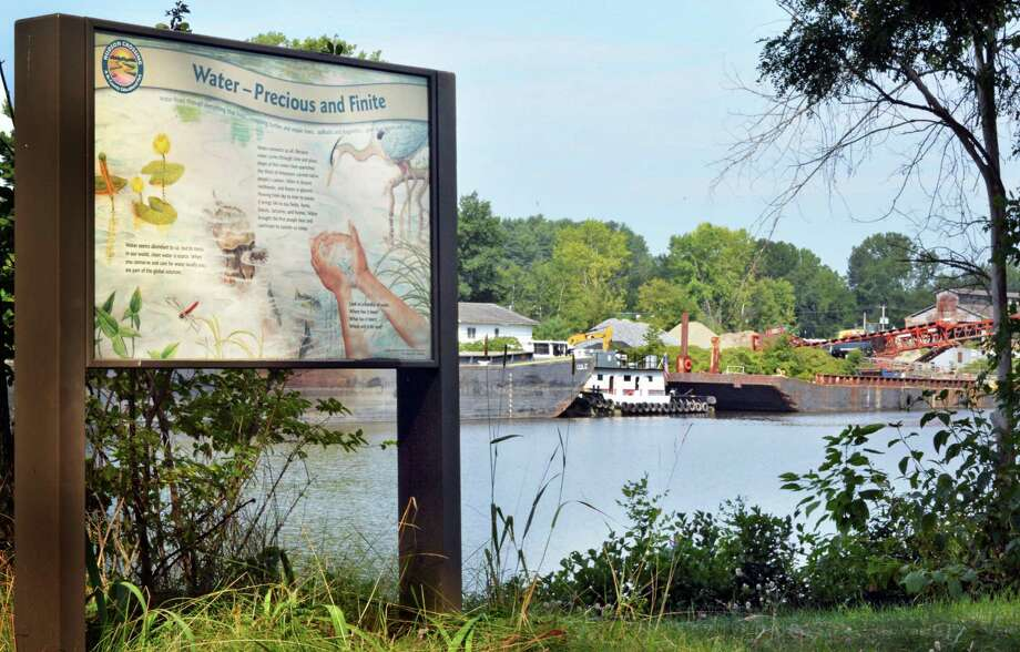 The PCB dredging facility, at right, opposite Hudson Crossing Park Wednesday August 27, 2014, in Schuylerville, NY.  (John Carl D'Annibale / Times Union) Photo: John Carl D'Annibale / 00028285A