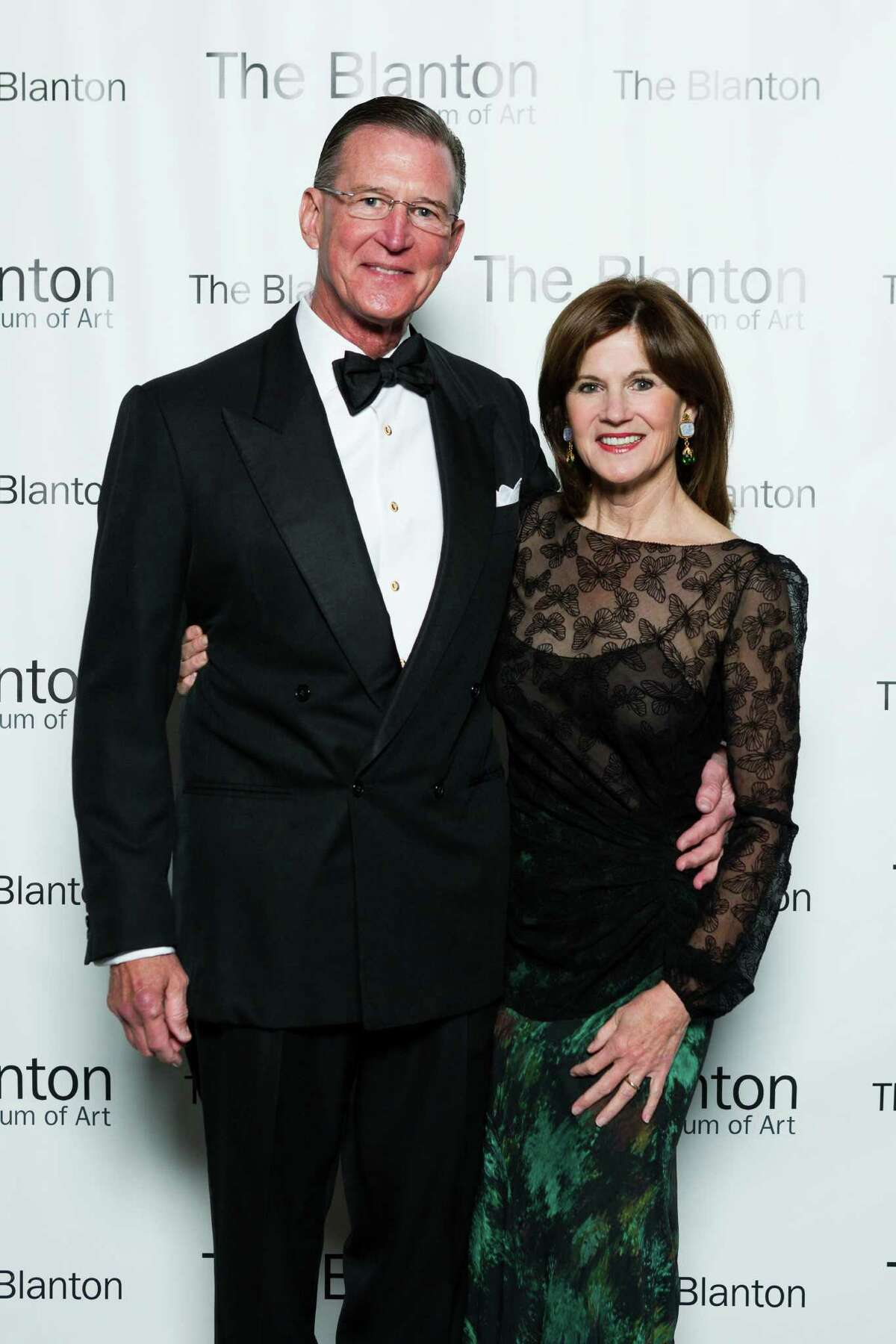 Judy and Charles Tate at the 50th Blanton Museum Anniversary Gala in 2013. Both graduated from the University of Texas-Austin and have supported its museum and other academic programs for years.