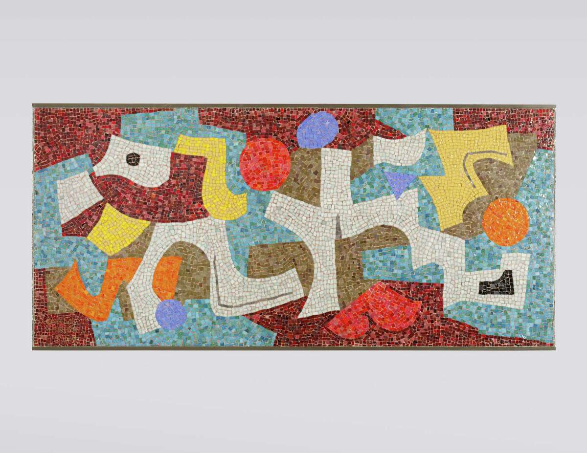 """Carlos Merida's 1953 glass mosaic """"Abstract"""" is among 120 works by Latin American artists promised to the Blanton Museum of Art at the University of Texas by Houston collectors and UT alums Charles and Judy Tate."""
