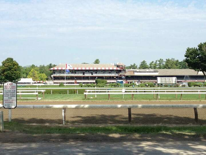 Saratoga Race Course waits for the start of the final six days of racing during the 2014 meet on Wed