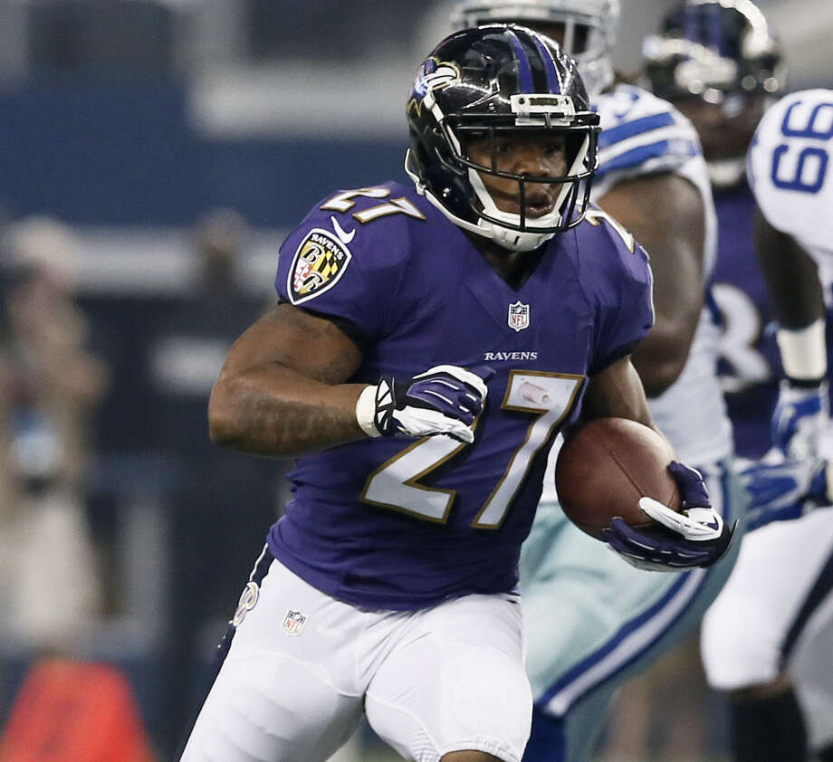 Ray Rice was suspended two games for a domestic incident, while others have been banished for longer after drug and alcohol violations. Photo: Brandon Wade / Associated Press / FR168019 AP