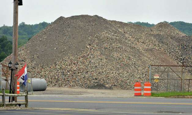 A rubble pile along Route 4, across the street from Hildreth's restaurant Wednesday August 27, 2014, in Mechanicville, NY.  (John Carl D'Annibale / Times Union) Photo: John Carl D'Annibale / 00028350A