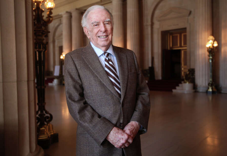 Opera composer Carlisle Floyd, 87, pictured March 20, 2014 in the lobby of the San Francisco War Memorial and Performing Arts Center. Photo: Leah Millis, Staff / The Chronicle / ONLINE_YES