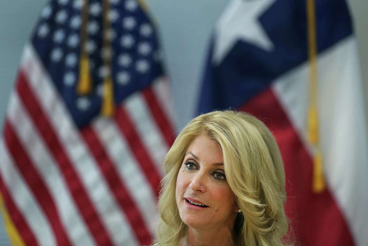 Democrat candidate for Governor of Texas, Senator Wendy Davis addressed the media outlining her ideas for higher education, during a press conference at Palo Alto College. Tuesday, Aug. 26, 2014.