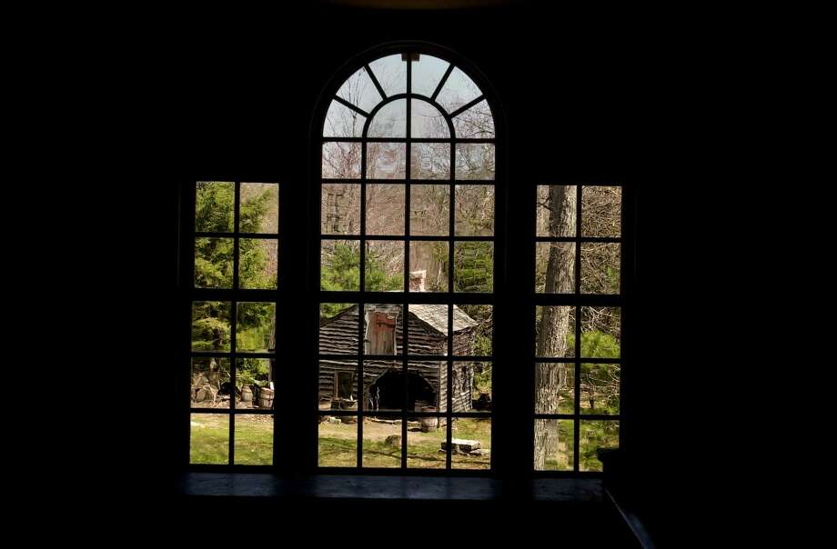 April 30, 2003, East Nassau, NY, Eastfield Village.   This is one of the historic buildings moved to the property, in 1985, the William Briggs Tavern, circa 1793, with a Palladian window overlooking the blacksmith shop. Photo: LUANNE M. FERRIS / TIMES UNION