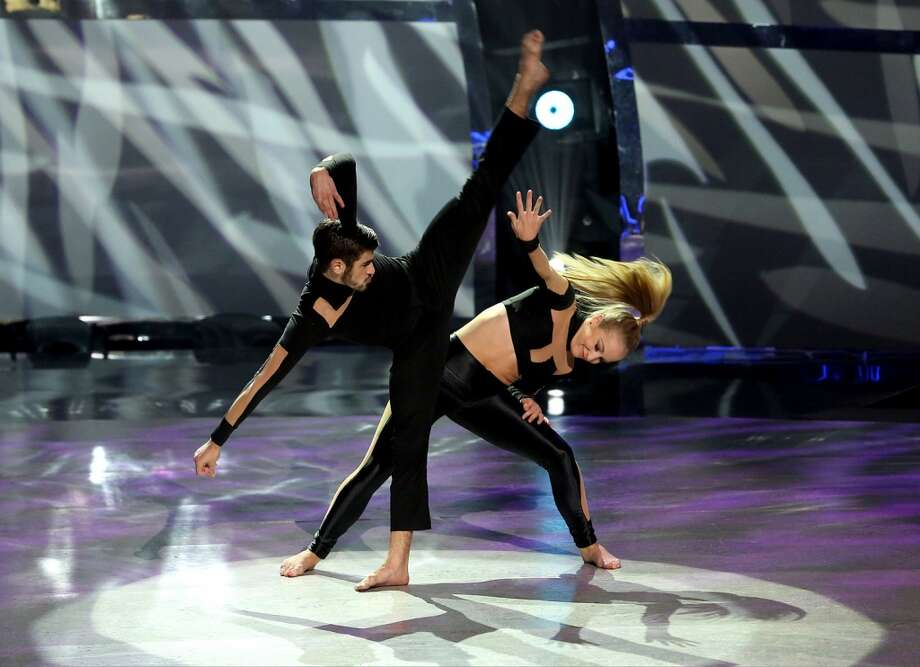 "SO YOU THINK YOU CAN DANCE: Top 4 contestants Jessica Richens (R) and Rickey Ubeda perform a Jazz routine to ""F For You"" choreographed by Ray Leeper on SO YOU THINK YOU CAN DANCE airing Wednesday, August 27 (8:00-10:00 PM ET/PT) on FOX. ©2014 FOX Broadcasting Co. Cr: Mike Yarish"