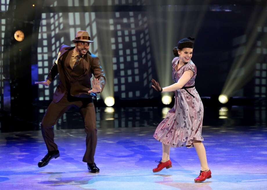 "SO YOU THINK YOU CAN DANCE: Top 4 contestant Valerie Rockey (R) and all-star Aaron Turner perform a Tap routine to ""Love Me Or Leave Me"" choreographed by Anthony Morigerato on SO YOU THINK YOU CAN DANCE airing Wednesday, August 27 (8:00-10:00 PM ET/PT) on FOX. ©2014 FOX Broadcasting Co. Cr: Mike Yarish"