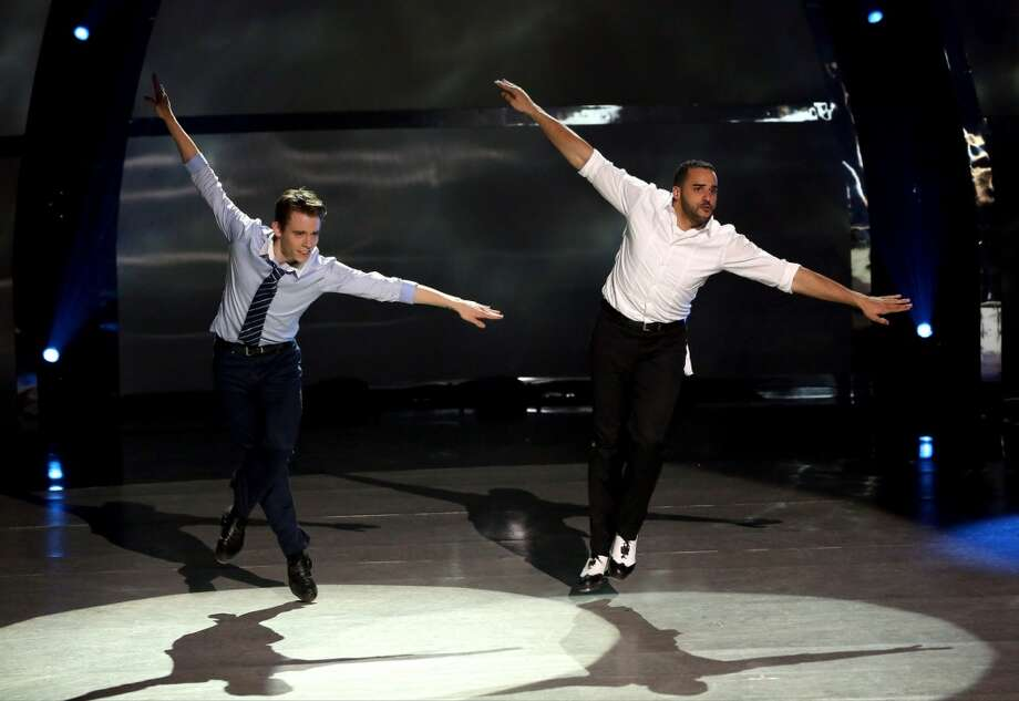 "SO YOU THINK YOU CAN DANCE: L-R: Top 4 contestant Zack Everhart Jr. and all-star Aaron Turner perform a Tap routine to ""Piano Man"" choreographed by Anthony Morigerato on SO YOU THINK YOU CAN DANCE airing Wednesday, August 27 (8:00-10:00 PM ET/PT) on FOX. ©2014 FOX Broadcasting Co. Cr: Mike Yarish"
