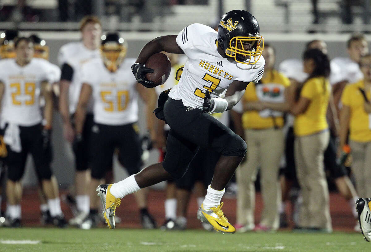 Javion Polk, East Central RB (District 28-6A): A dual offensive threat, Polk (left) should be featured even more in the Hornets' high-powered offense. He rushed for 600 yards and had 200 receiving, scoring six TDs for an offense that averaged 25.5 points per game. - Raul Dominguez Jr.