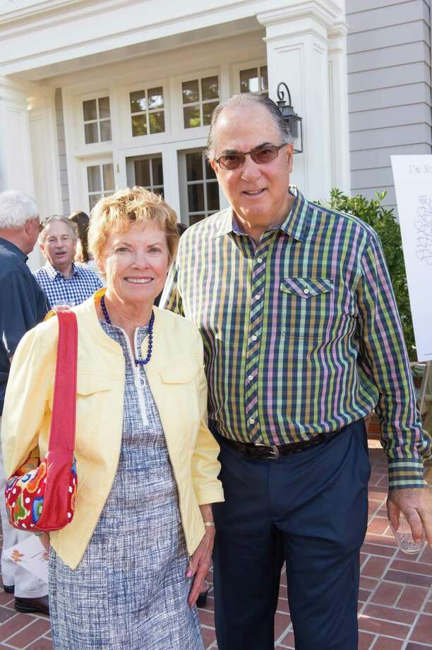 Anne Steiner and Wayne Macktinger at CASA of San Mateo County's Auxiliary Garden Party on August 24. 2014. Photo: Susana Bates For Drew Altizer, Drew Altizer Photography / DREW ALTIZER PHOTOGRAPHY